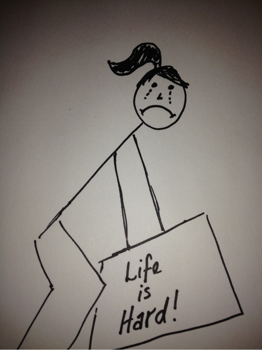 Depression      (heavy, sad, baggage)